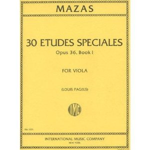Mazas Jacques Fereol 30 Etudes Speciales Op. 36 Book 1 Viola solo - by Louis Pagels International